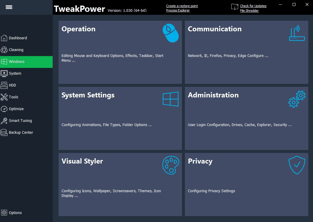TweakPower screenshot